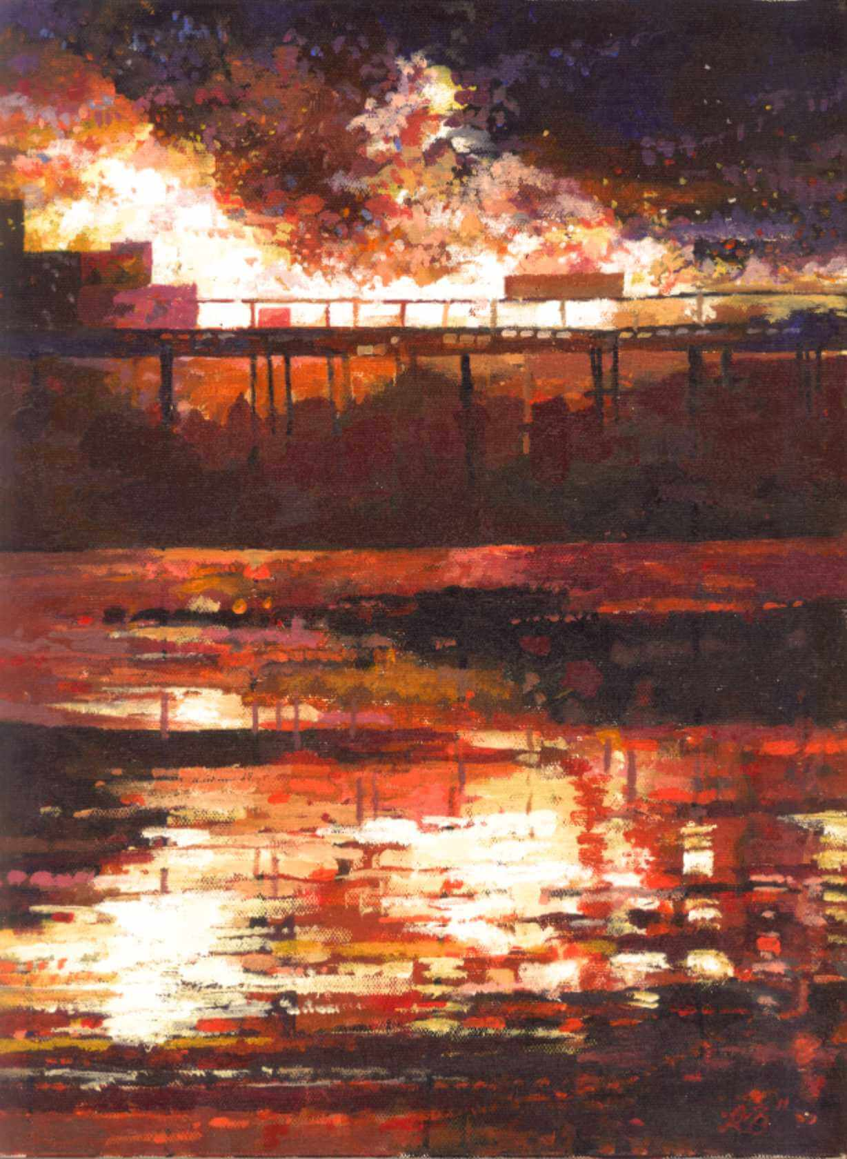 2011 The Great Fire of Hastings Pier (study)