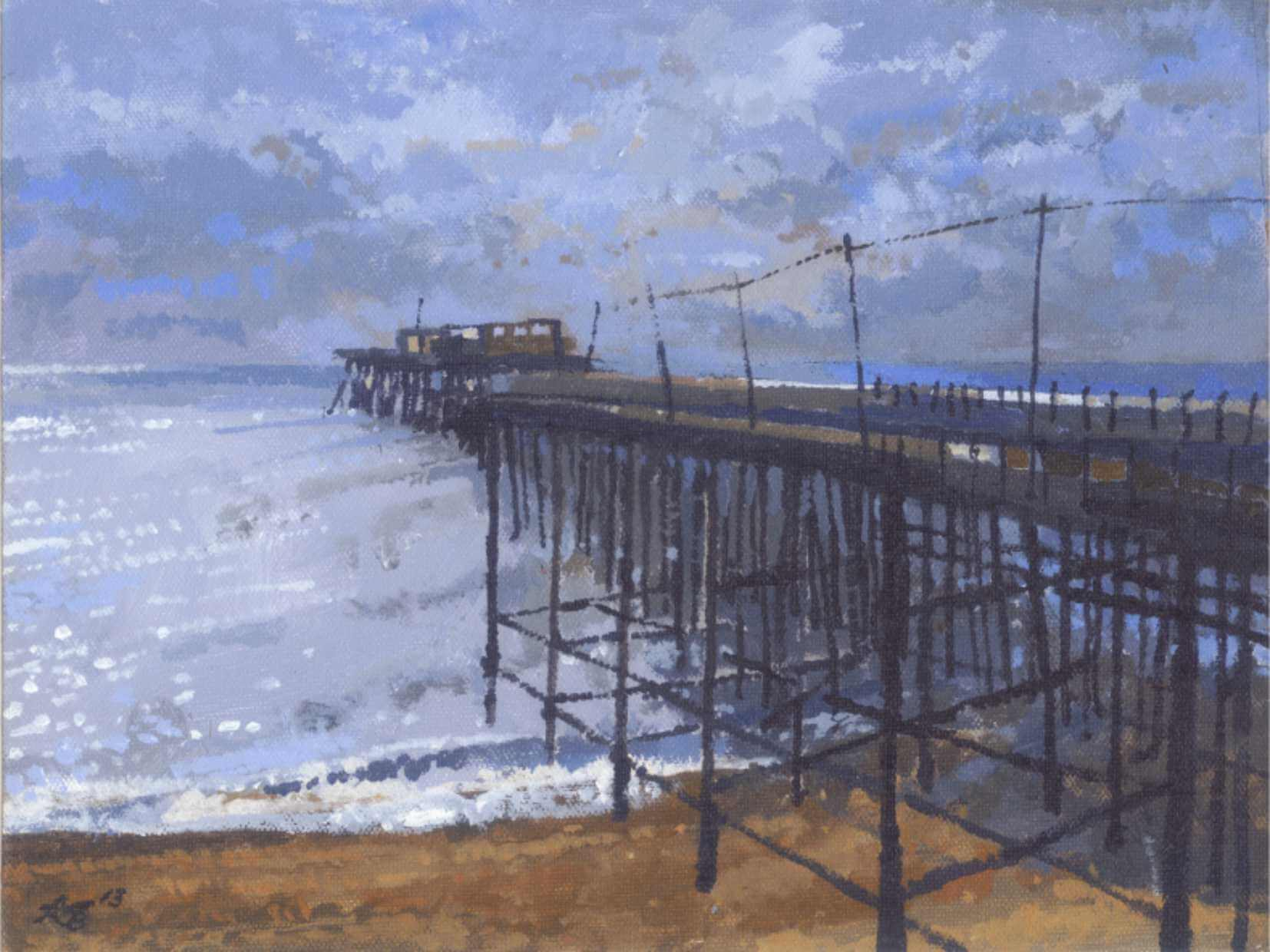 2012 Hastings Pier by Moonlight (study)