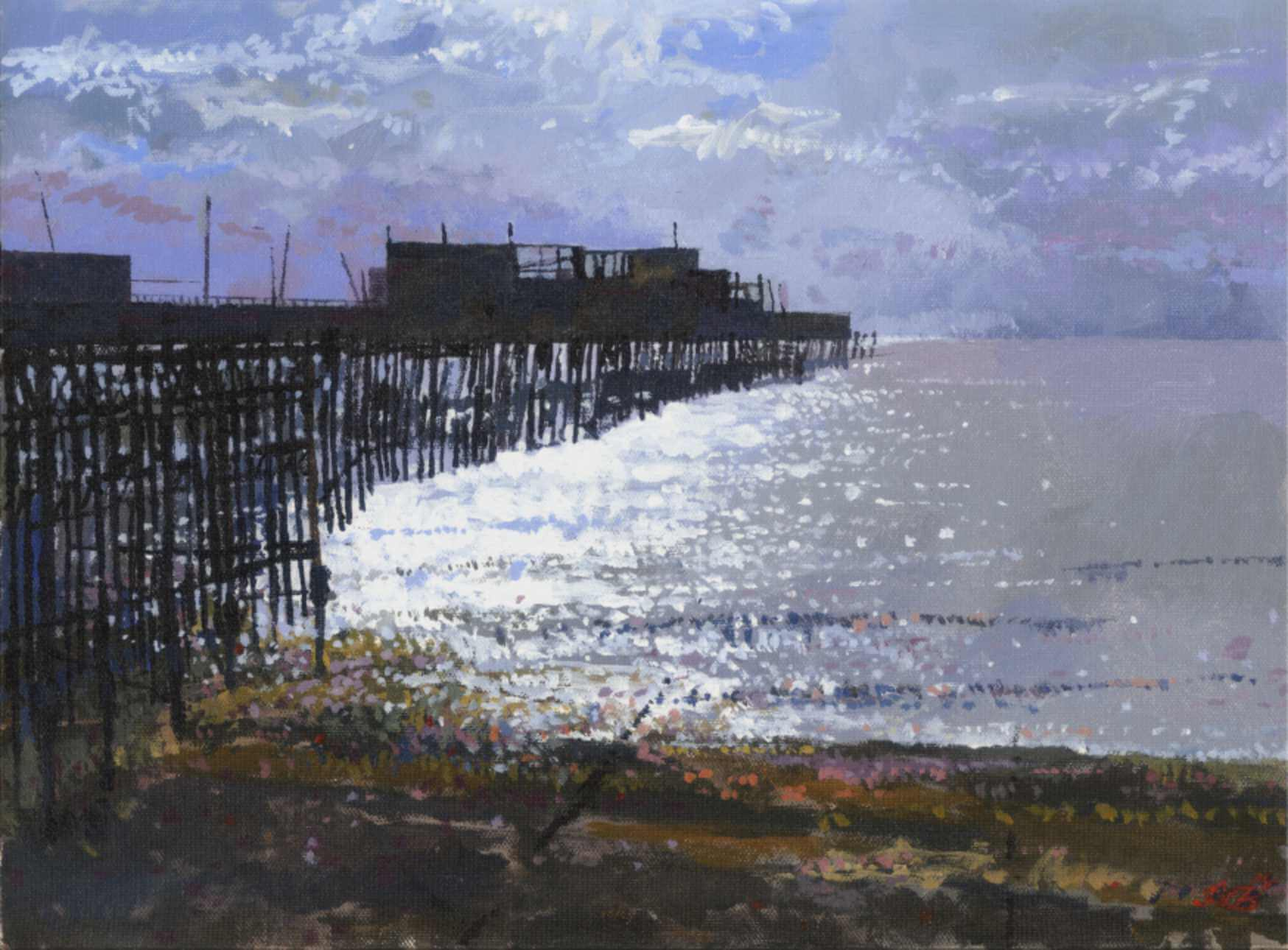 2014 Hastings Pier by Moonlight (study)